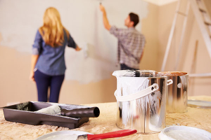couple painting - COVID-19 Suggestions to remain productive - Fort Myers - Richardson Custom Homes